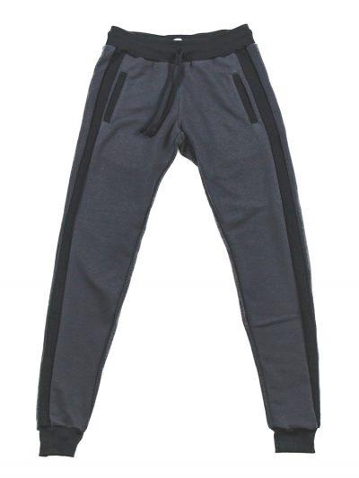 Calça de Molteom de verão Cinza Escuro Com Preto