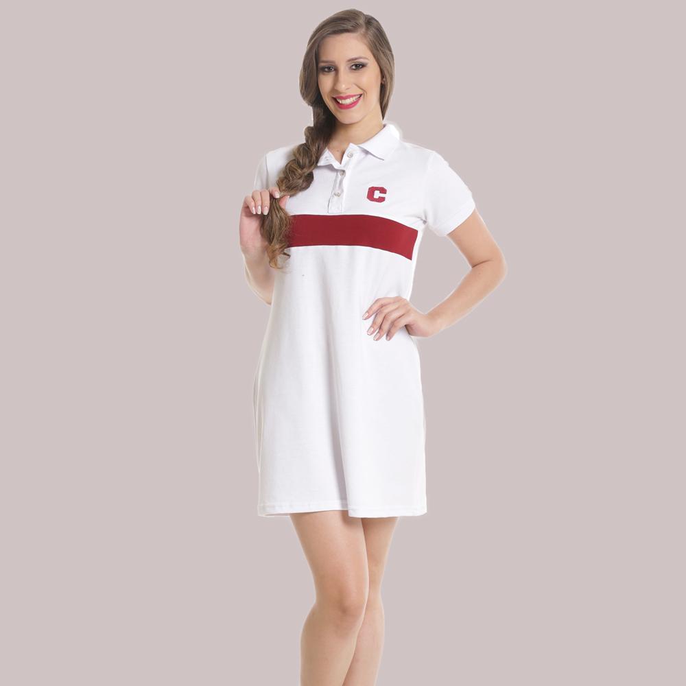 vestido polo personalizado branco