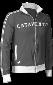 jaqueta retrô com faixa vertical