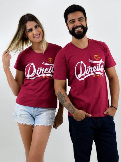camiseta vinho de direito