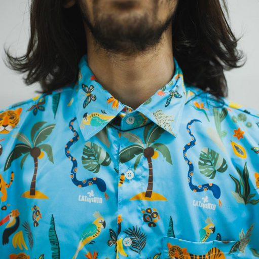 Conjunto Tropical Moda Praia Camisa e Short Personalizado 03