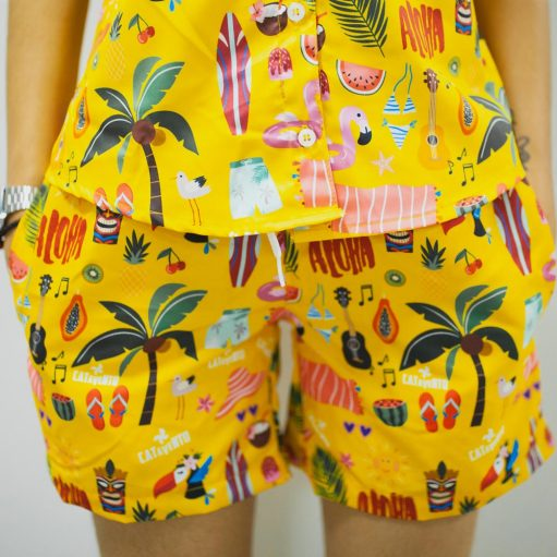 Conjunto Tropical Moda Praia Camisa e Short Personalizado 05
