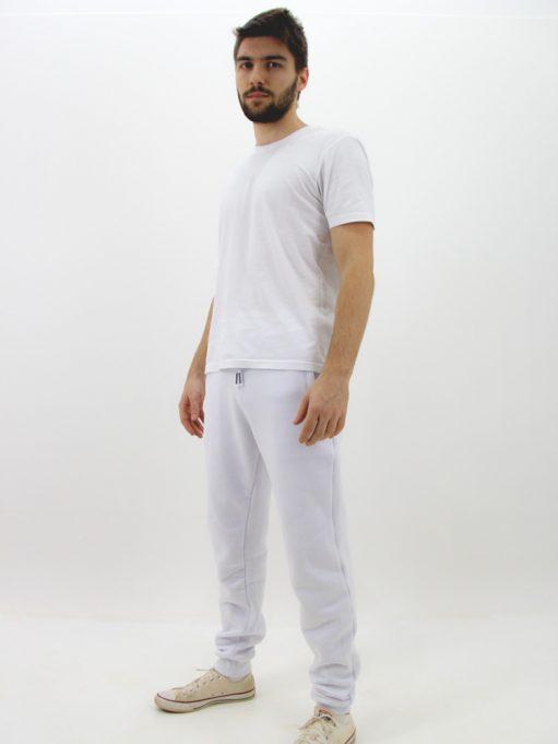 Calça de Moletom Básico Branco (2)