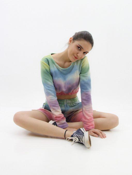 cropped feminino tie dye