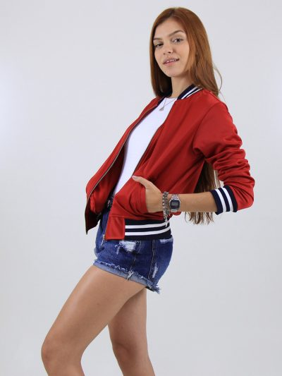 Jaqueta Acetinada Vermelha