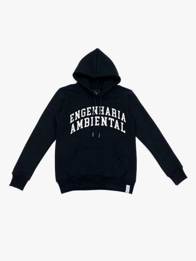 Blusão de frio preto de Engenharia Ambiental
