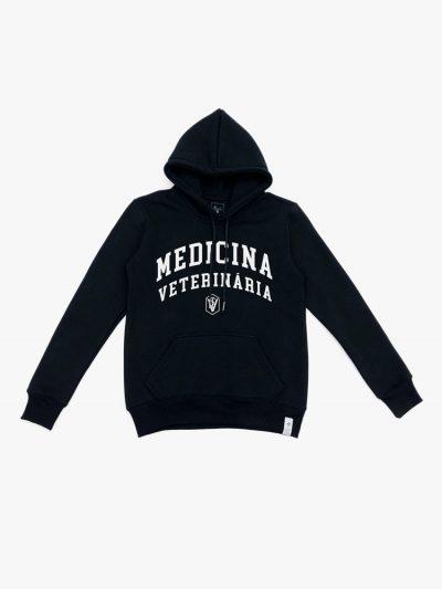 Blusão de frio preto de Medicina Veterinária