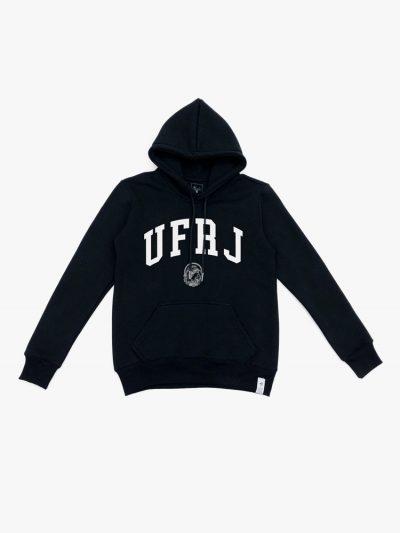 Moletom preto da UFRJ personalizado
