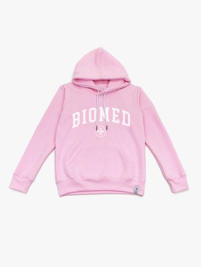 Blusão de frio rosa claro de Biomedicina