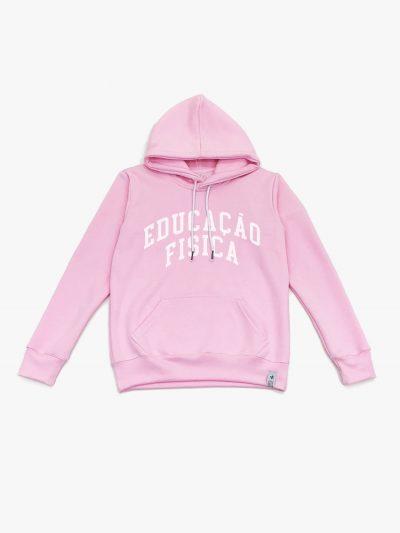 Blusão de frio rosa claro de Educação Física
