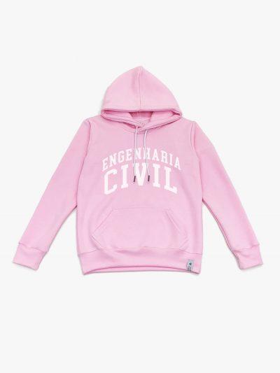 Blusão de frio rosa claro de Engenharia Civil
