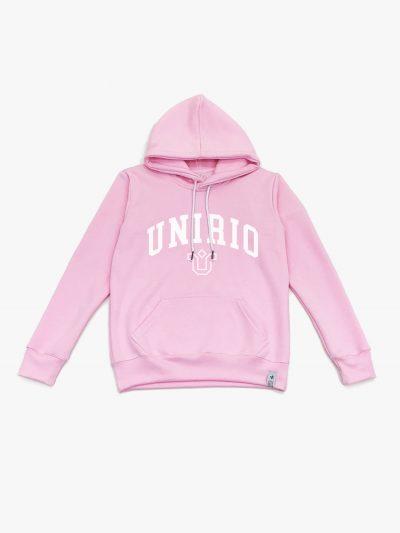 moletom rosa claro personalizado da Unirio