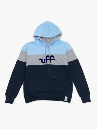Moletom azul claro cinza e marinho da UFF