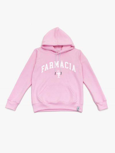 Blusão de frio rosa claro de Farmácia