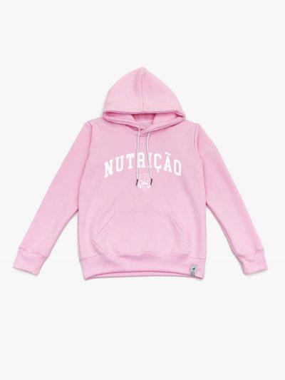 Blusão de frio rosa claro de Nutrição