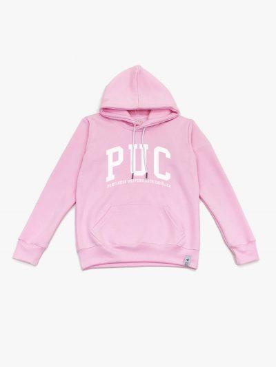 Blasa de frio rosa claro da Puc